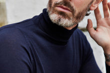 Load image into Gallery viewer, edward_sexton_navy_cashmere_rollneck