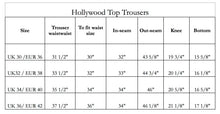 Load image into Gallery viewer, hollywood_top_trousers_sizing