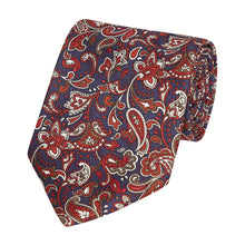 Load image into Gallery viewer, navy_red_paisley_1