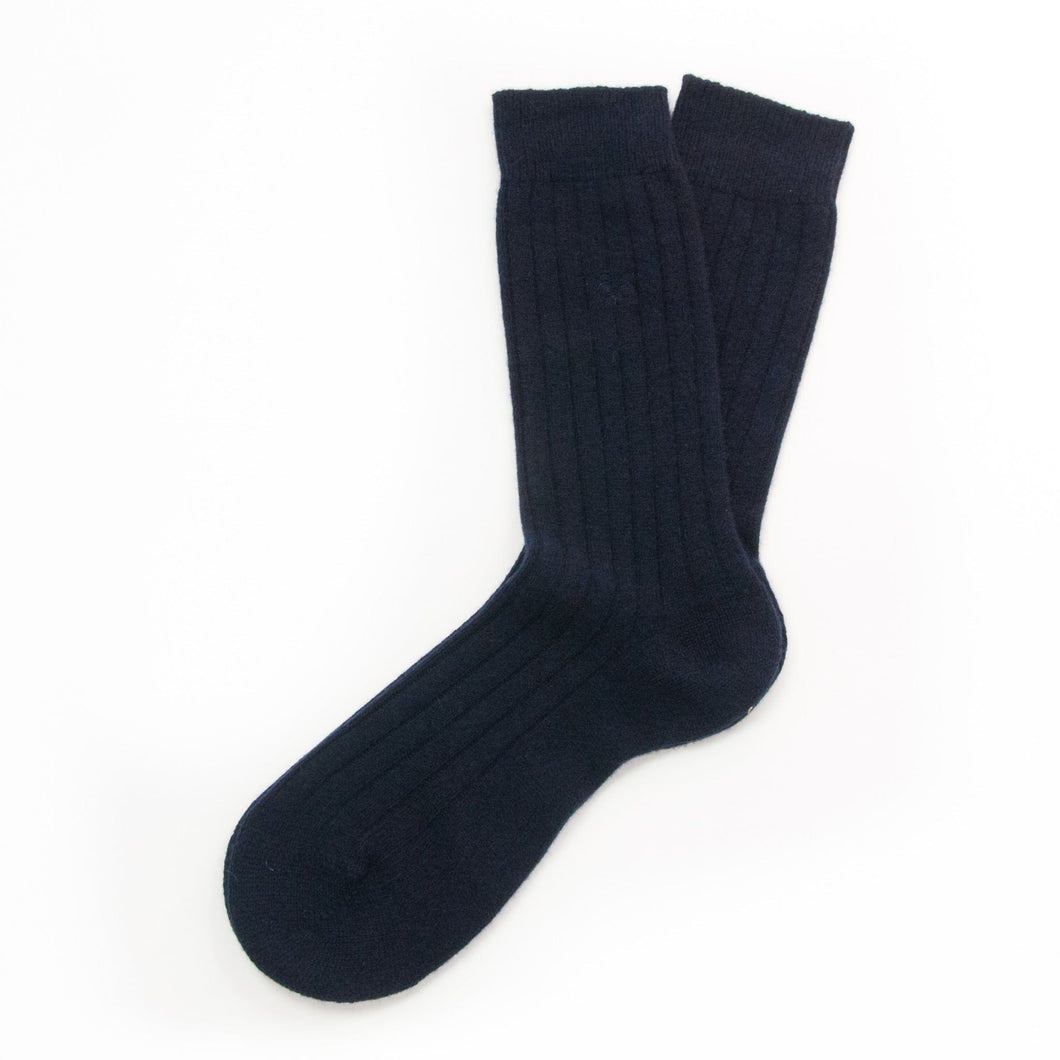 Navy cashmere socks