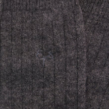 Load image into Gallery viewer, charcoal grey cashmere socks