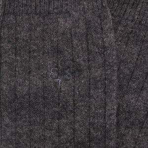 charcoal grey cashmere socks