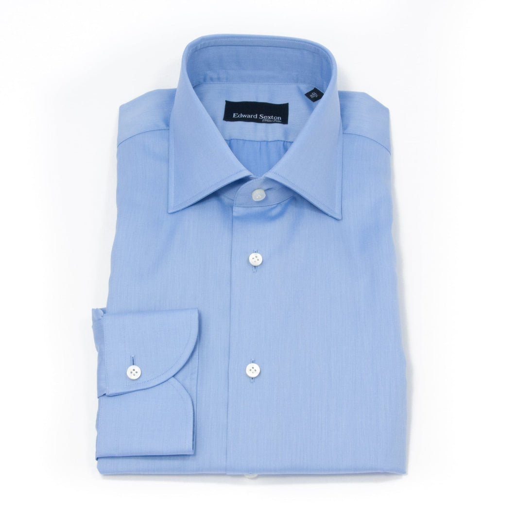 blue slim fit classic collar shirt