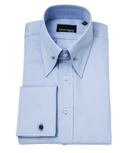 Load image into Gallery viewer, pale-blue-pin-collar-shirt