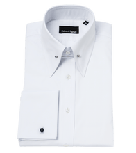 Load image into Gallery viewer, white-pin-collar-shirt