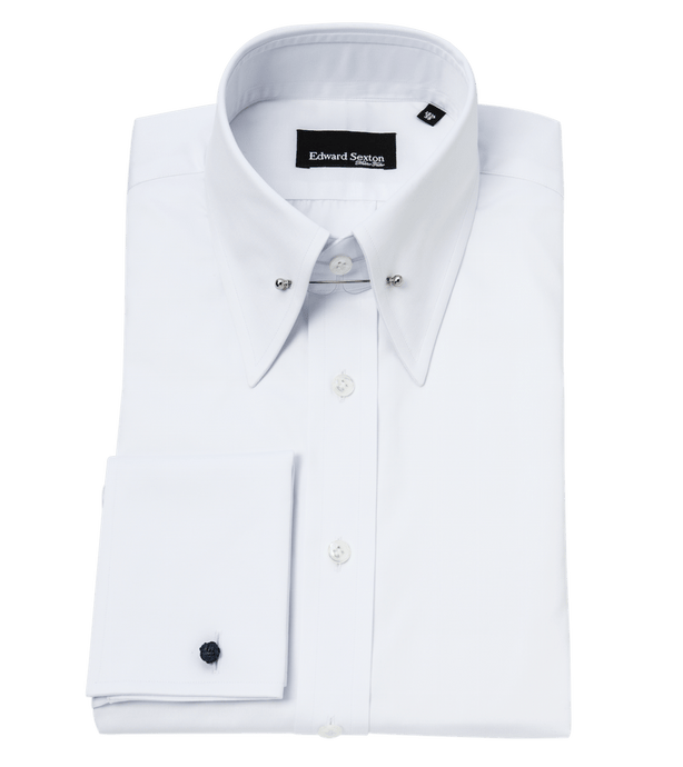 white-pin-collar-shirt