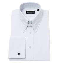 Load image into Gallery viewer, white-tab-collar-shirt