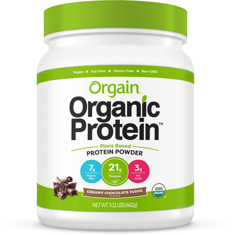 Orgain Organic Plant Based Protein Powder - Chocolate Fudge