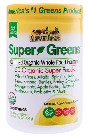 Country Farms Super Food Drink Mix - Banana Flavor