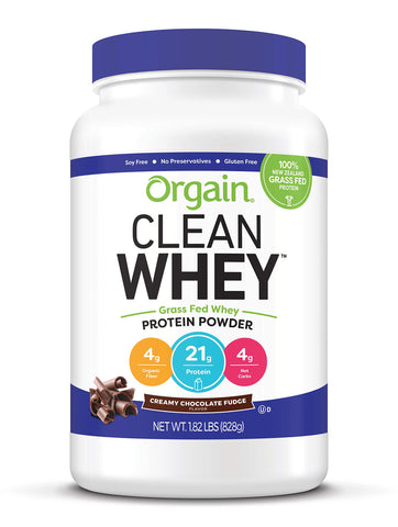 Orgain Grass Fed Clean Whey Protein Powder - Creamy Chocolate Fudge