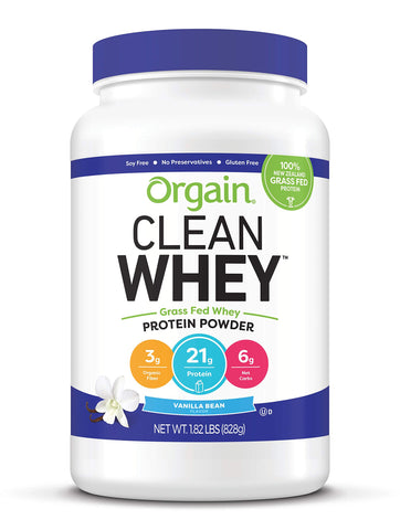 Orgain Grass Fed Clean Whey Protein Powder - Vanilla Bean