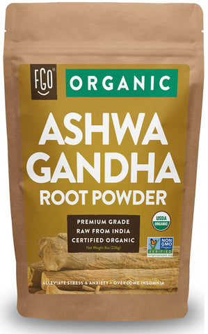 Organic Ashwagandha Root Powder - 8 oz
