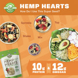 Organic Hemp Hearts - Raw Shelled Hemp Seeds