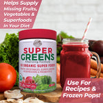 Country Farms Super Greens Drink Mix - Berry Flavor