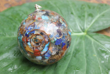Load image into Gallery viewer, Orgon/ Seven Chakra Orgonite Sphere Ball 3 inch for Self Healing