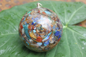 Orgon/ Seven Chakra Orgonite Sphere Ball 3 inch for Self Healing