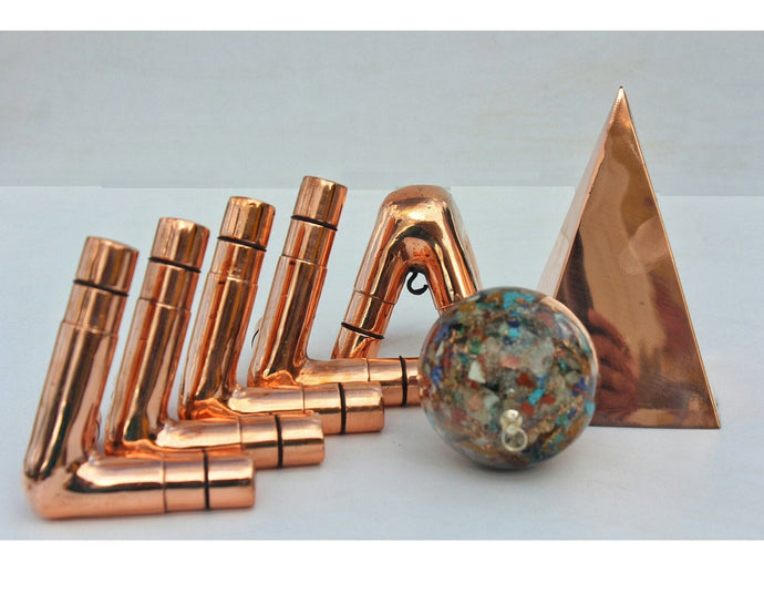 M type 1/2 inch kit Nubian Copper Meditation Pyramid connector  only Free Shipment Within USA
