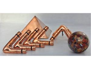 Deluxe Copper Giza Lite Duty 8 feet Meditation Pyramid for Self Healing