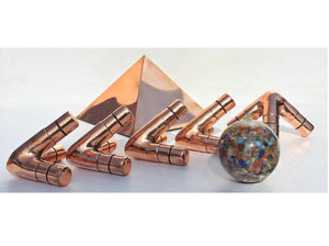 Deluxe Copper Giza Heavy Wight 6 Feet Meditation Pyramid for Self Healing for Out Doors
