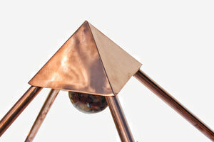 Deluxe Copper 30 Inch base Mini Experiment Giza Pyramid with White Tent