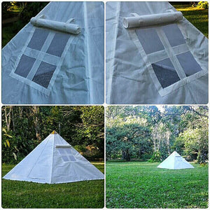 Giza Aluminium Meditation Pyramid 8 feet lite weight with tent