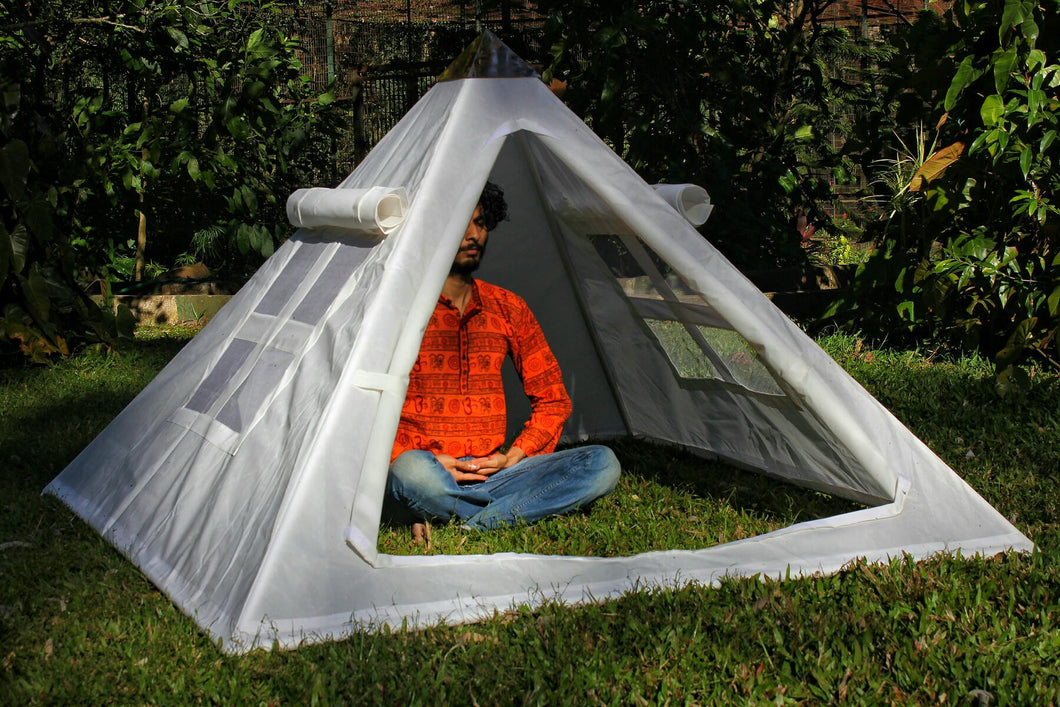 Giza Aluminium Meditation Pyramid 6 feet Heavy duty with tent
