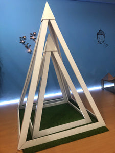 PVC Nubian 3 feet base Meditation Pyramid for spiritual Healing