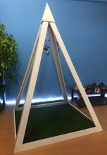 Load image into Gallery viewer, PVC Nubian 4 feet base Meditation Pyramid for spiritual Healing