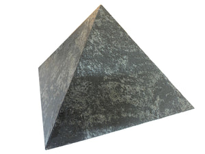 Natural Silver Stone Veneer Pyramid for for Positive vibes 12 Inch Base