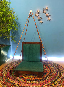 Copper Nubian 3 Feet Meditation Pyramid ( portable  )