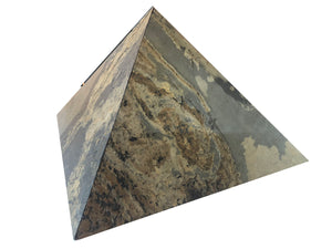 Natural Automin Multi lite Stone Veneer Pyramid for positive vibes 12 Inch