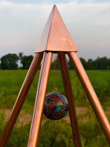 Copper Nubian 4 Feet Meditation Pyramid (portable)