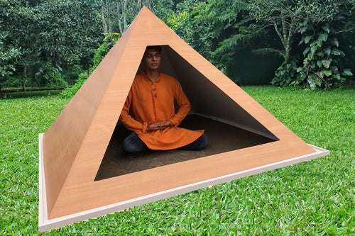 Giza medium wight 6 feet base wooden Meditation Pyramid for Spiritual Healing