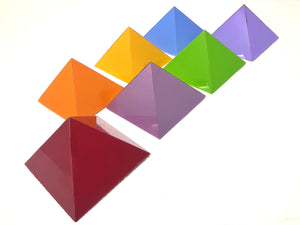 7 chakra pyramids for Feng shui, vaastu and for meditation 4 inches and 6 inches