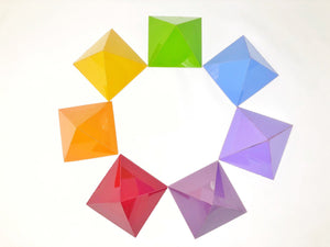8 units Chakra pyramids for Feng shui, vastu and for meditation 10 inches
