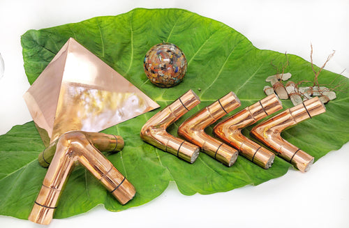 18 OD 16 ID 2 MM Thickness Giza Copper Meditation Pyramid connector