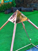 Load image into Gallery viewer, 12 mm OD  10 mm ID 2 mm Giza Copper Meditation Pyramid connector  Thickness Australia