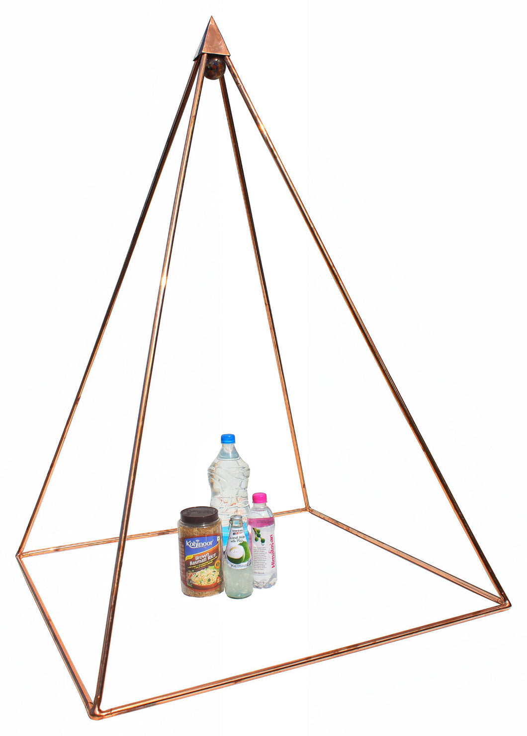 Deluxe Copper 20 Inch base Mini Experiment Nubian Pyramid