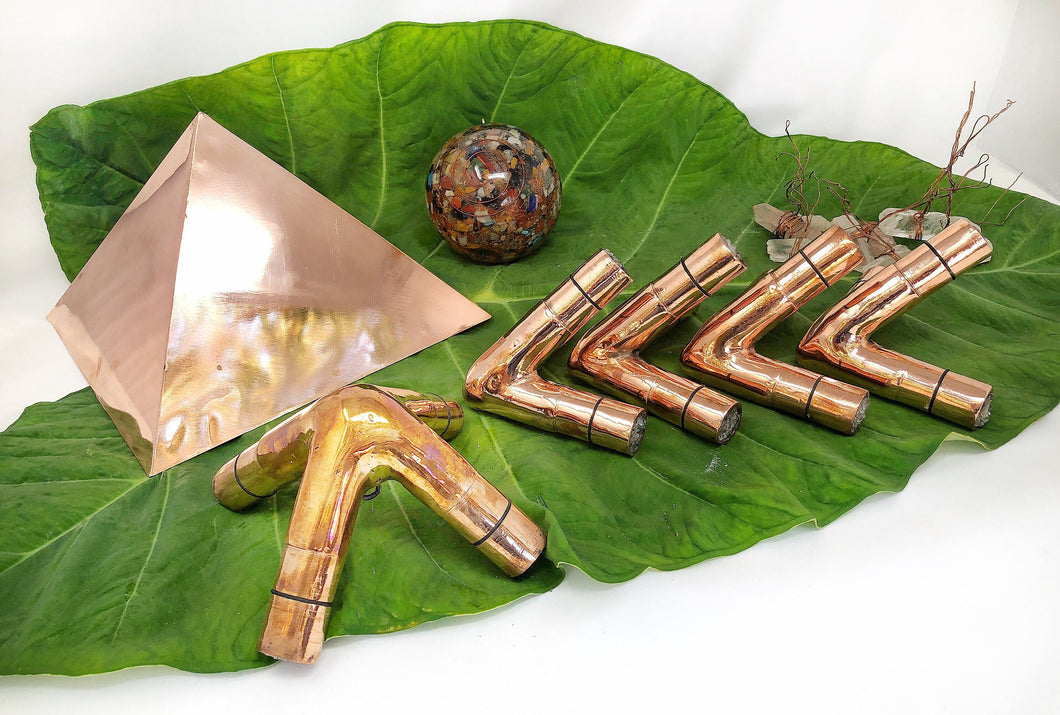 18 mm OD  17 mm ID 1 mm Thickness Giza Copper Meditation Pyramid connector  Switzerland