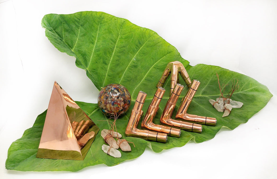 16 mm OD  14 mm ID 2 mm thick Nubian Copper Meditation Pyramid Solid connector