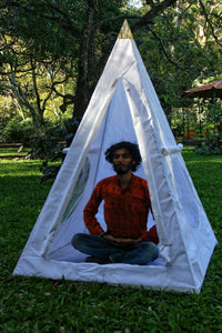 Deluxe Nubian copper framed Meditation Pyramid 4 Feet Heavy duty with tent