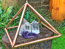 Load image into Gallery viewer, Deluxe Copper 10 Inch base Mini Experiment Giza hanging Pyramid