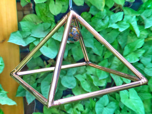 Deluxe Copper 10 Inch base Mini Experiment Giza hanging Pyramid