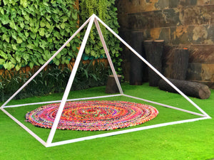 Giza Aluminium Meditation Pyramid 6 feet Heavy duty outdoor.