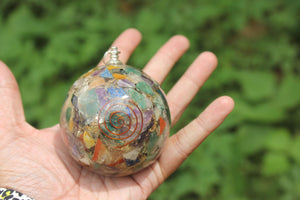 2 pairs of Seven Chakra Orgon/ Orgonite Sphere Ball 2.5 inch for Self Healing