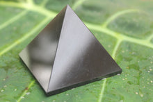 Load image into Gallery viewer, Fine polished Black Tourmaline Pyramid 40 MM to 55 MM at the base
