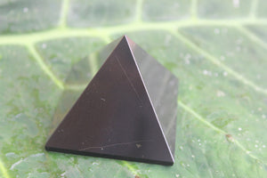 Fine polished Black Tourmaline Pyramid 40 MM to 55 MM at the base