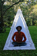 Load image into Gallery viewer, Deluxe Nubian copper framed Meditation Pyramid 4 Feet Heavy duty with tent