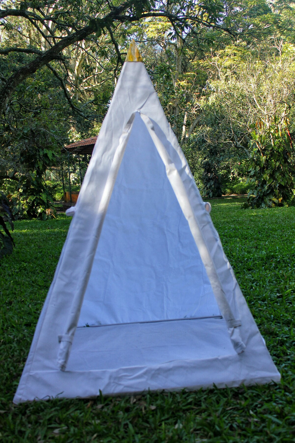 Deluxe Nubian Copper Framed Meditation Pyramid 4 Feet Base Lite duty Tent Unit