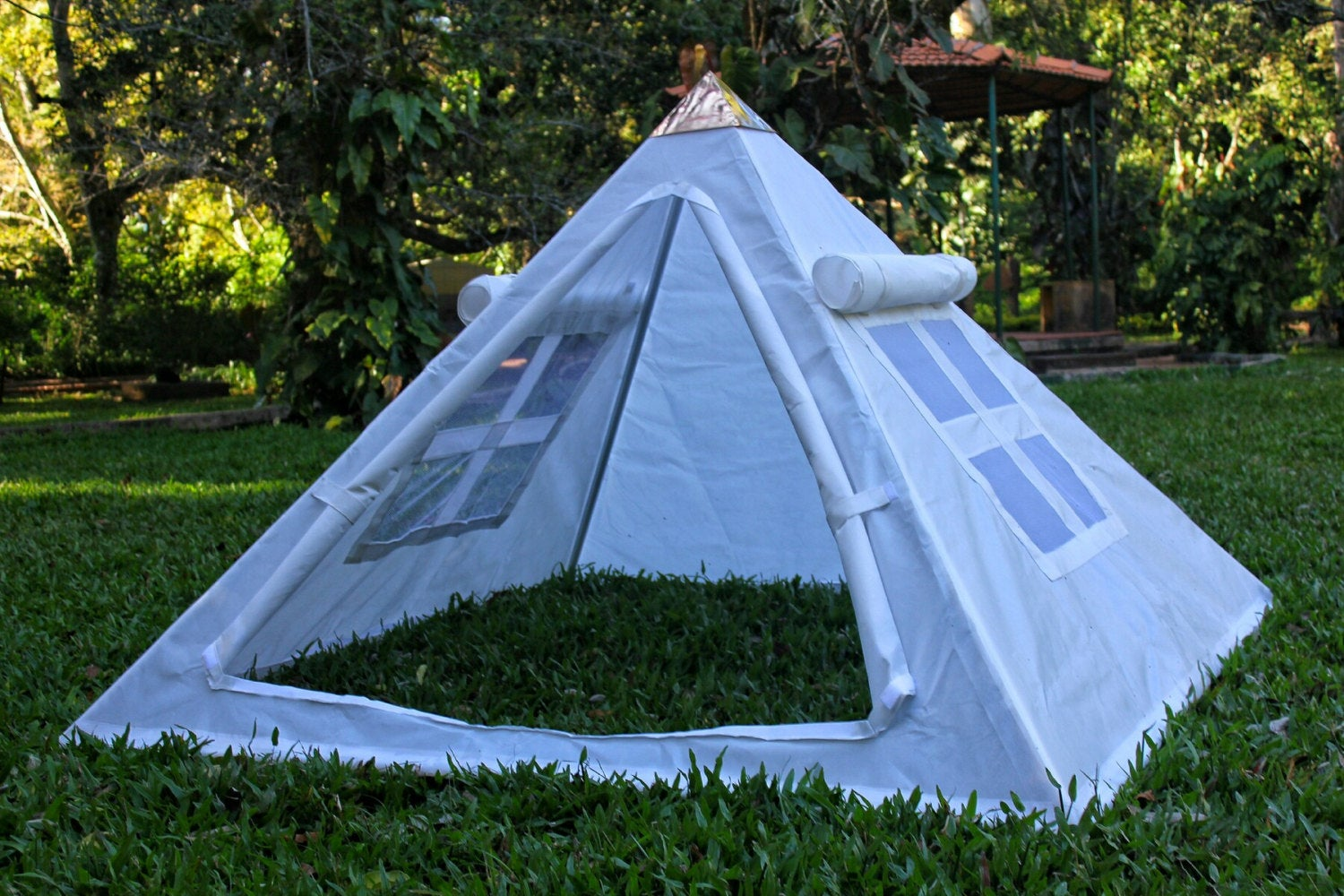 Fully Covered Copper Meditation Pyramid for Heart Chakra Activation
